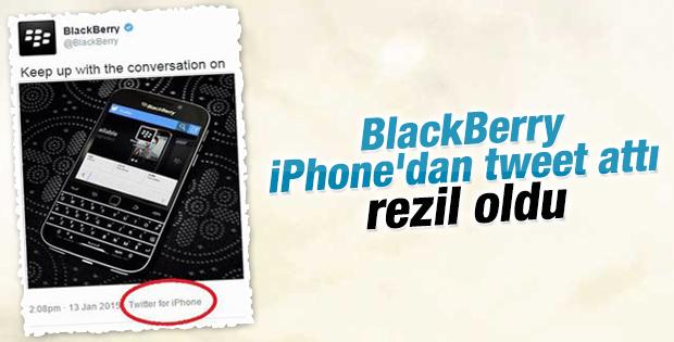 BlackBerry tweet'ini iPhone'dan paylaştı