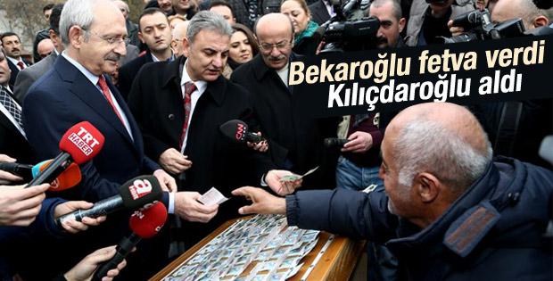Kılıçdaroğlu piyango bileti aldı