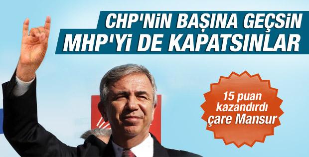 CHP'ye 15 puan kazandıran tek isim Mansur Yavaş