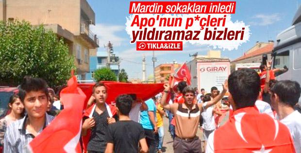 Mardin'de teröre tepki yürüyüşü