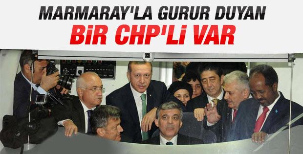 Marmaray'a bir CHP'liden övgü geldi