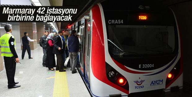 Marmaray 42 istasyonu birbirine bağlayacak