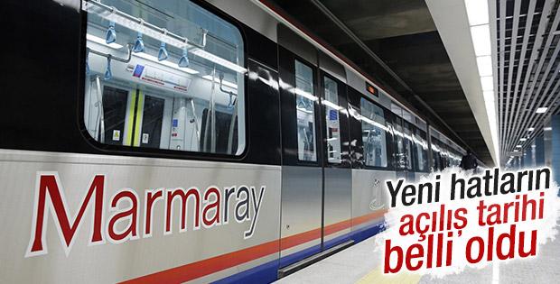 Yeni Marmaray hatlarının açılış tarihi belli oldu