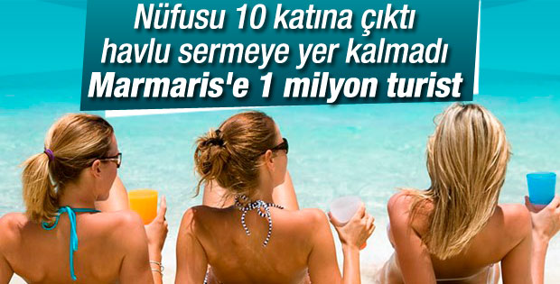 Marmaris'te bayramda 1 milyon tatilci