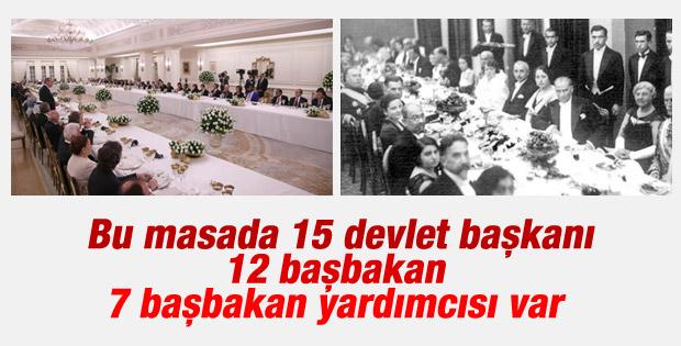 Erdoğan'dan devlet başkanları onuruna akşam yemeği