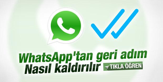WhatsApp'ın mavi tık özelliği kaldırılabiliyor