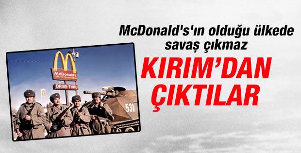 McDonald's Kırım'da kepenk kapattı
