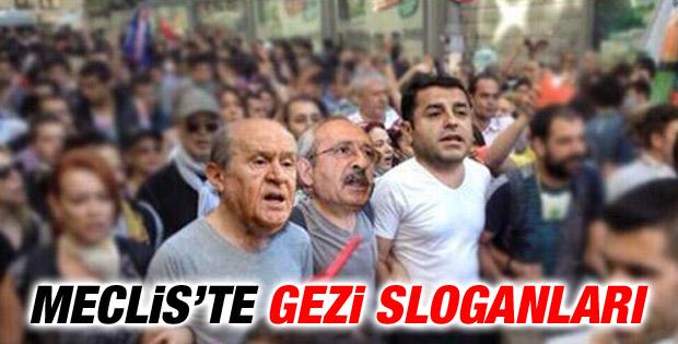 TBMM'de Gezi sloganları