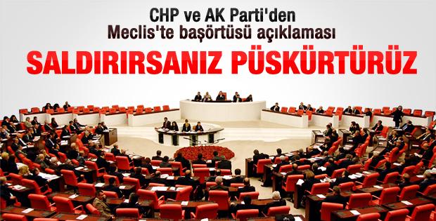 Ak Parti ve CHP'den başörtülü vekil açıklaması