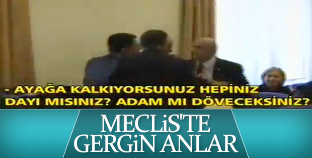 Meclis'te milletvekilleri arasında sert tartışma VİDEO