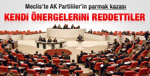 AK Partililer kendi tekliflerini reddetti