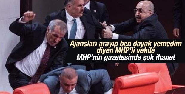 MHP'nin gazetesi MHP'li vekili rezil etti