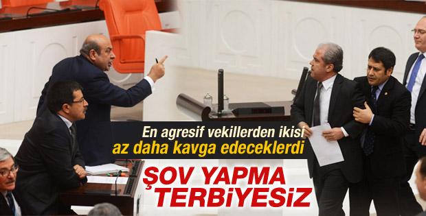 AK Partili Tayyar ile BDP'li Kaplan Meclis'te tartıştı