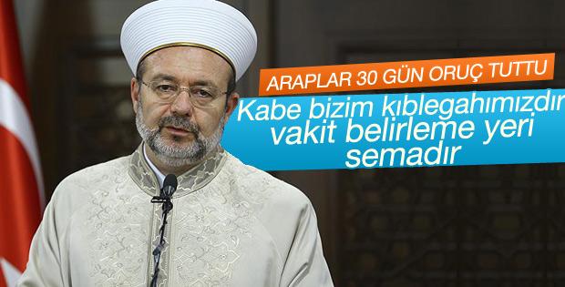 Mehmet Görmez: Kabe bizim kıblegahımızdır