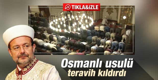 Diyanet İşleri Başkanı Osmanlı usulü namaz kıldırdı İZLE