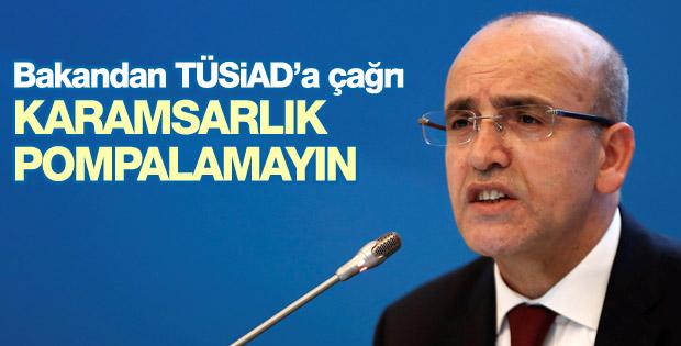 Mehmet Şimşek'ten TÜSİAD'a: Karamsar olmayın