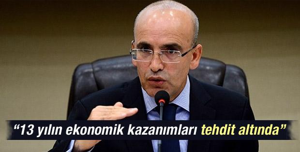 Mehmet Şimşek: 13 yılın kazanımları tehdit altında