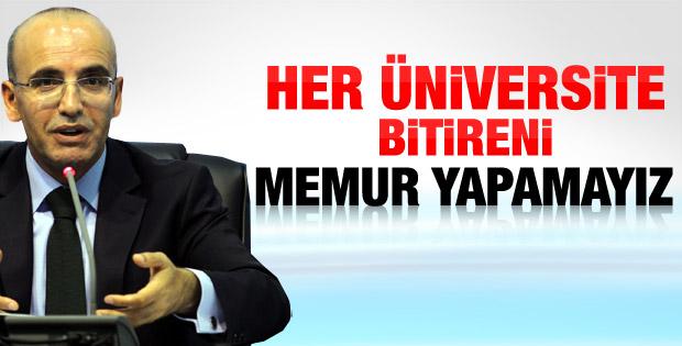Mehmet Şimşek'ten memur alımlarına ilişkin açıklama