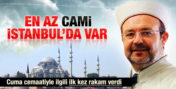 Mehmet Görmez: En az cami İstanbul'da var