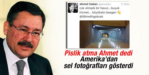 Melih Gökçek ile Ahmet Hakan arasında sel kavgası