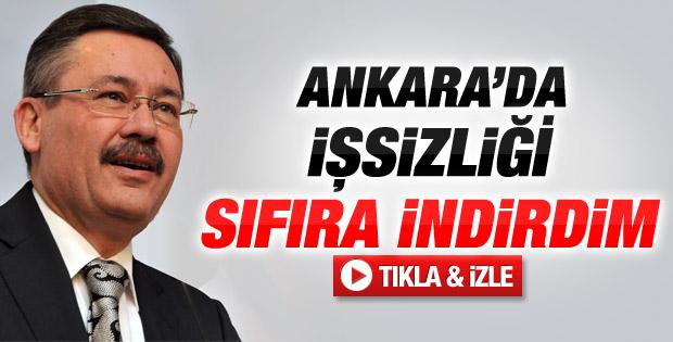 Melih Gökçek: Ankara'da işsizliği bitirdim