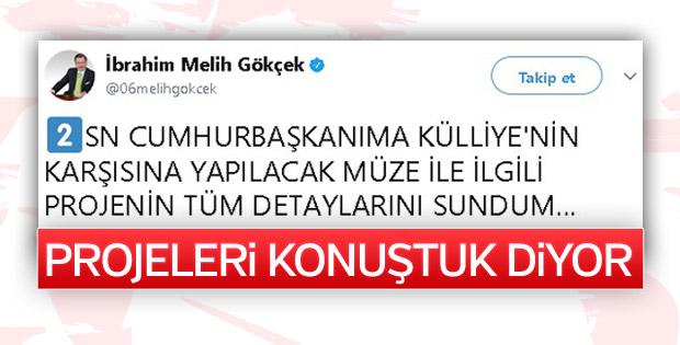 Cumhurbaşkanı Erdoğan'la görüşen Gökçek'ten açıklama