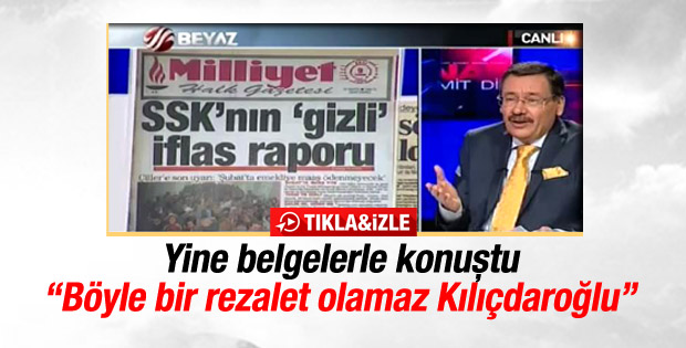 Melih Gökçek Kılıçdaroğlu'nun vaatlerini belgeyle çürüttü