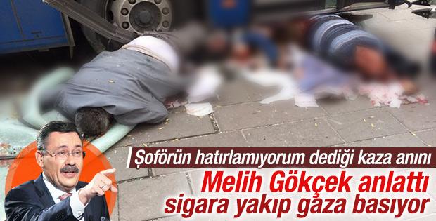 Melih Gökçek Ankara'daki kazayı anlattı