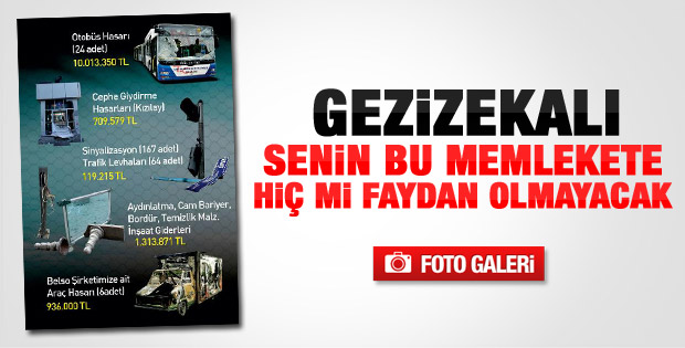 Melih Gökçek'in Gezi bilançosu kitapçığı