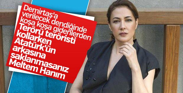 Meltem Cumbul bildiği tek Atatürk sözüyle Afrin'e karşı çıktı