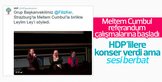 Meltem Cumbul HDP'li vekille düet yaptı