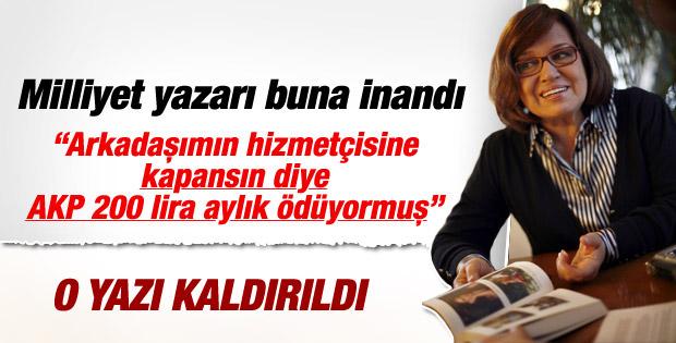 Milliyet Meral Tamer'in başörtüsü yazısını yayından kaldırdı