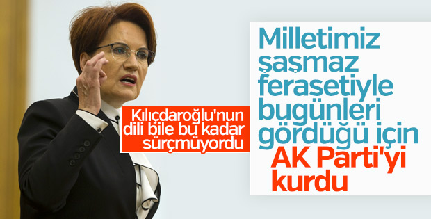 Meral Akşener'in 'AK Parti' gafı