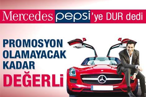 Mercedes'ten Pepsi'ye veto