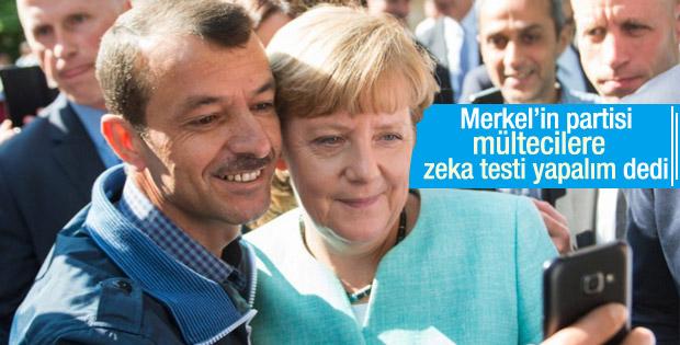 Almanya'da 'mültecilere zeka testi yapalım' önerisi