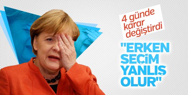 Merkel'in erken seçim düşüncesi değişti