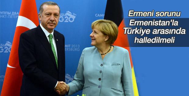 Angela Merkel'den Ermeni sorunu açıklaması