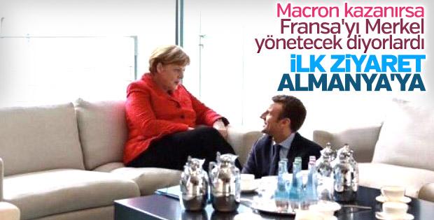 Macron ilk görüşmesini Merkel ile yapacak