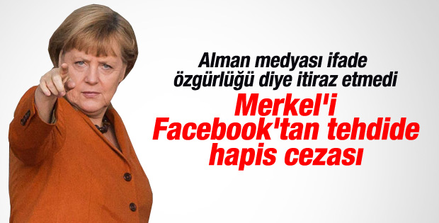 Merkel'i ölümle tehdit etti hapis cezası aldı