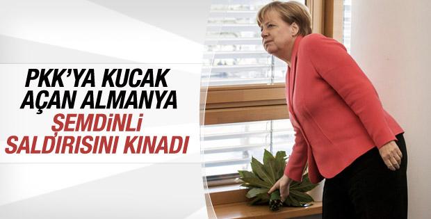 Angela Merkel Şemdinli saldırısını kınadı