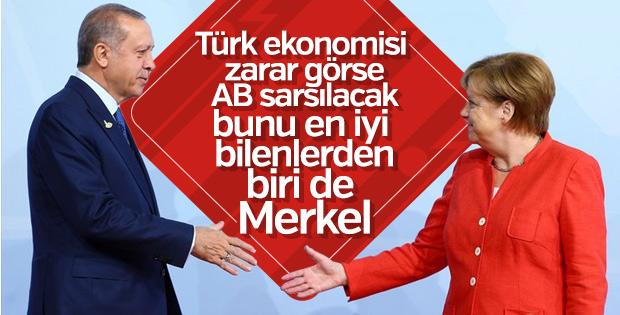Erdoğan, Merkel'le görüştü