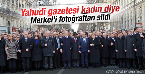 Muhafazakar Yahudi gazetesi Merkel'i fotoğraftan sildi