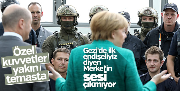 Merkel, Hamburg olaylarını görmezden geliyor