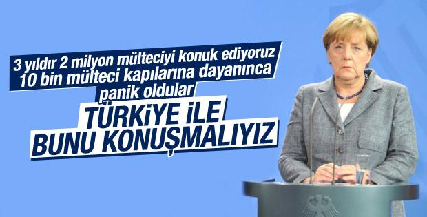 Merkel: Türkiye ile mülteci konusunu iyice konuşmalıyız