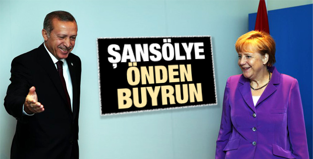 Erdoğan-Merkel görüşmesinde renkli anlar