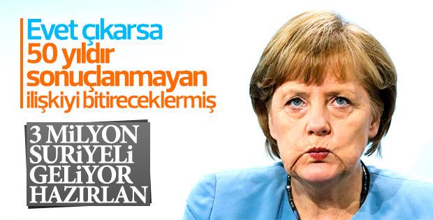 Merkel: Türkiye'yle ilişkiler için referandumu beklemeliyiz