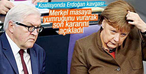 Merkel koalisyonda Erdoğan'dan yana tavır aldı