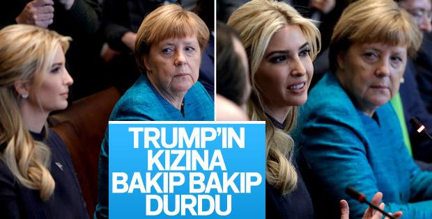 Merkel'in Trump'ın kızı İvanka'ya bakışı sosyal medyada