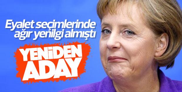 Angela Merkel yeniden Başbakanlığa aday olacak