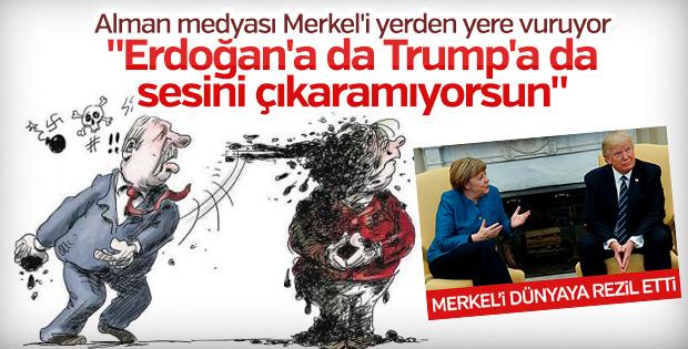 Merkel'in ezikliği Alman medyasını rahatsız ediyor